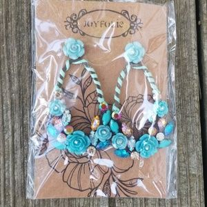 Joyfolie teal Isla earrings